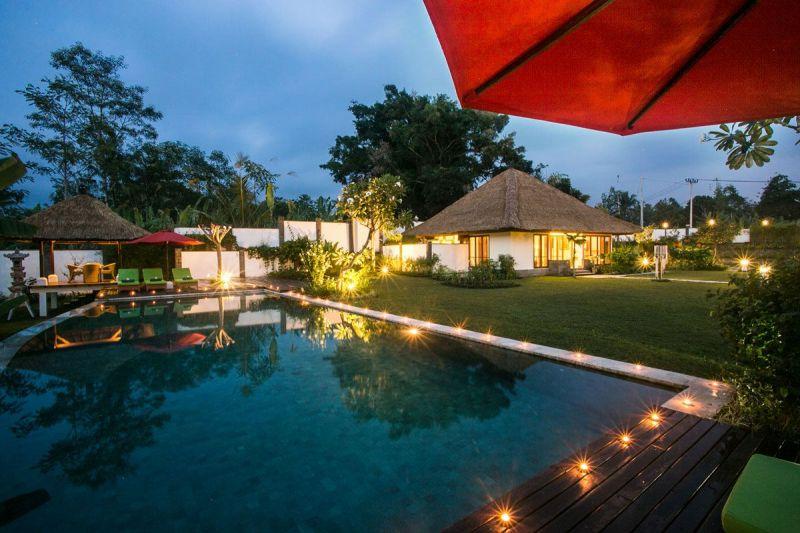 Villa Vastu 227 223508934028 Swimming Pool At Night