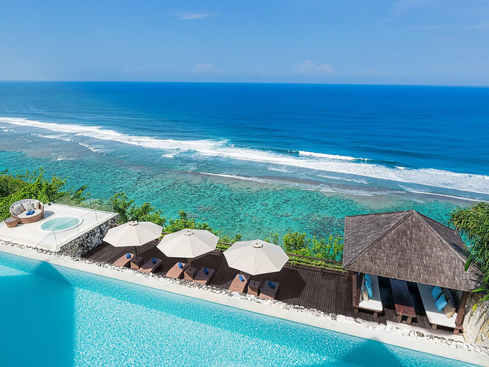 Pool And Ocean View From The Villa