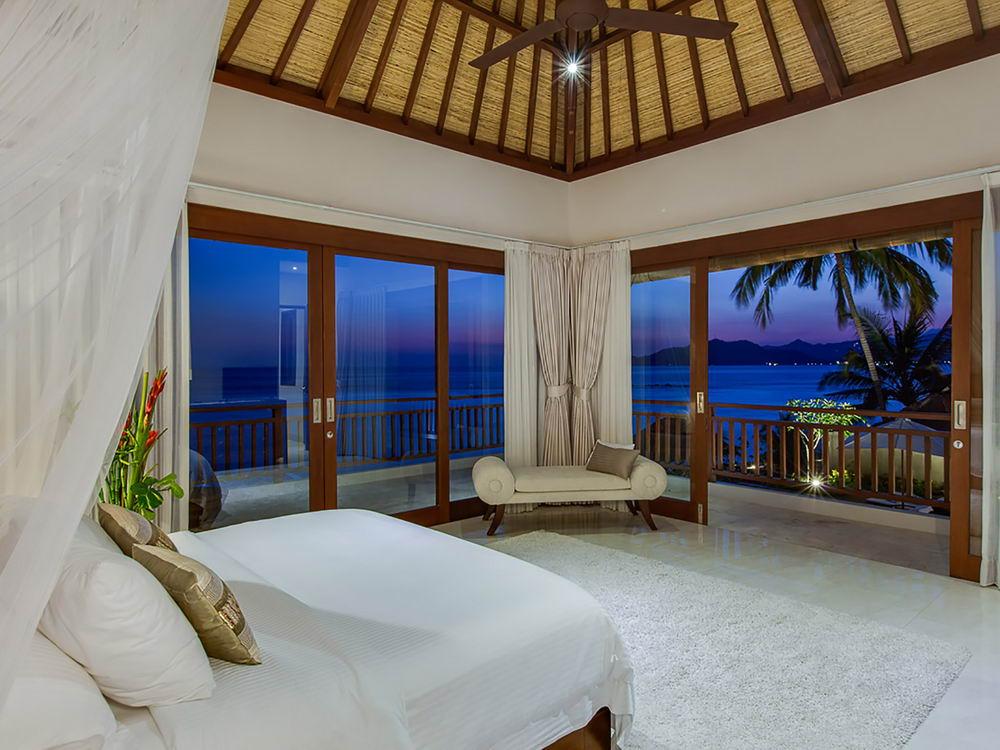 Night View From Oceanfront Bedroom