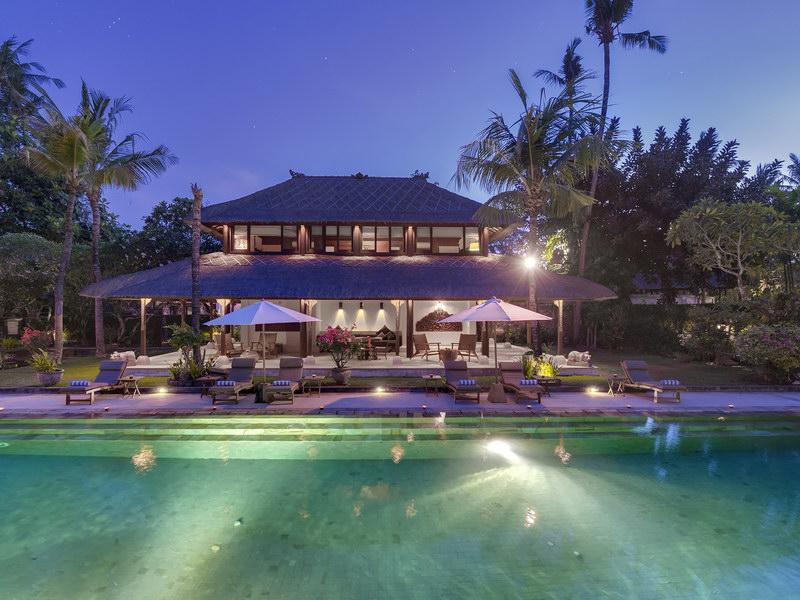 The Villa View At Night